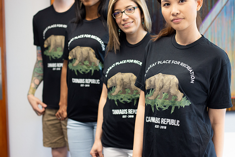 The Seed Group blog - Cannabis marketing seed group team california bear shirts cannabis republic tshirt tshirts team coworkers a great place for recreation