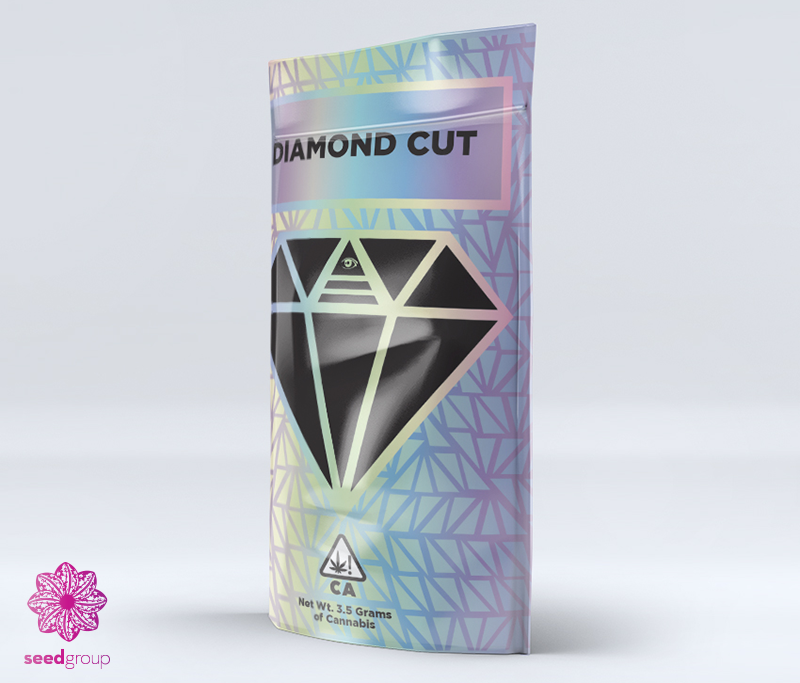 Diamond Cut cannabis marketing packaging The Seed Group Seed Group